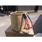 竹製 背負い籠(かご)、収穫かご 丸型 巾約35(33)cmΦ×H39cm 【竹製かご カゴ  山菜採り きのこ採り】