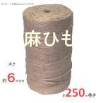 ジュート麻ひも 太さ 約6mmφ×250m  重さ約2、5KG 【麻紐 麻縄 荷造り ロープ】