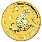 純金 コイン 金貨 24金 干支 金貨 猿 申 1/4オンス 2016年 オーストラリアパース造幣局発行 クリアケース付