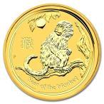 純金 コイン 金貨 24金 干支 金貨 猿 申 1オンス 2016年 オーストラリアパース造幣局発行 クリアケース付
