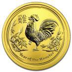純金 コイン 金貨 24金 干支 金貨  酉 鶏 1オンス 2017年 オーストラリアパース造幣局発行 クリアケース付