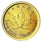 メイプル金貨 1/20オンス カナダ王室造幣局発行 1.55gの純金 24金 K24 メイプルリーフ 金貨 ゴールド コイン 地金型 純金 Gold 保証書付き
