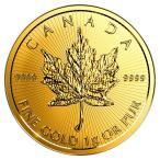 純金 24金 ゴールド コイン  メイプル金貨 1g  2017年製