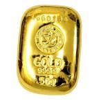 純金 インゴット 延べ棒『ISHIFUKU 石福 ゴールドバー 50g』品位:K24 (99.99%) 純金 24金《安心の本物保証》【保証書付き・巾着袋入り】