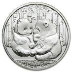 【パンダのデザイン 純銀コイン 1g 2013年製 クリアケース入り】  ライジングサン ミント発行 1gの純銀  高純度 シルバー コイン 純銀コイン 保証書付き