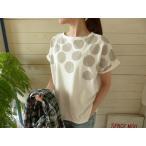 【ご予約】NATURAL LAUNDRY(ナチュラルランドリー) りんごドットのワイドTシャツ(7171C052)