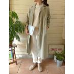 evam eva(エヴァムエヴァ) cotton hemp trench coat(E171T036)