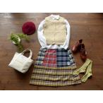 ショッピング快晴堂 快晴堂(かいせいどう) BOY'S&GIRL'Sチェックパッチワークのスカート(63SK-09)
