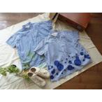 ショッピング快晴堂 快晴堂(かいせいどう) 裾に大水玉 BIGシャツ(72S-01)