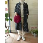 ショッピングprit prit(プリット) ウール水玉カットジャガード裾ゴムノーカラーコート(80804)
