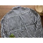 ショッピングprit prit(プリット) フレンチリネンギンガムチェックスラッシュポケットワイドシャツ(81730)