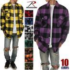 ロスコ チェックシャツ ROTHCO シャツ 長袖 ネルシャツ メンズ チェックシャツ 厚手 フランネルシャツ 大きいサイズ USA ブランド ファッション