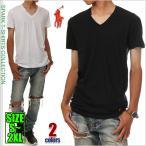 ラルフローレン Vネック Tシャツ POLO RALPH LAUREN 半袖 無地 Tシャツ メンズ 大きいサイズ ブラック ホワイト  黒 白 ブランド ロゴ