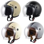 ジェットヘルメット バブルシールド付 ブラックステッチ(全2色)