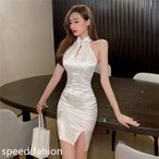 コスプレ 衣装 チャイナドレス ボディコンワンピ チャイナミニドレス キャバ セクシーミニチャイナドレス 21sf03051