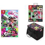 【新品】【即納】Splatoon 2+Nintendo Switch専用カードポケット24+オールインボックス スプラトゥーン2+オリジナルメタルチャーム3種(ガール・ボーイ・イカ)