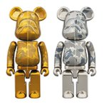 【新品】入荷次第発送!超合金 BAPE(R) CAMO SHARK BE@RBRICK GOLD/SILVER