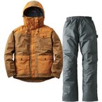 ロゴス(LOGOS) 汚れに強い防水防寒スーツ カーター ブラウン M 30340673