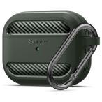 Apple AirPods Pro ケース Spigen ラギッド・アーマー カバー カラビナ リング 付き 収納ケース エアポッズ プロ ワイヤレス充電 ASD00540