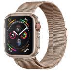 Spigen Apple Watch 44mm ケース リキッド・クリスタル  Series 5 / series 4 対応  落下 衝撃 吸収 柔らかい TPU 透明 クリア 062CS24473