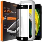 Spigen iPhone SE [第2世代] / iPhone8 / 7 対応 ガラスフィルム  Align Master FC Black (1枚入) 保護フィルム 液晶強化ガラス 9H硬度 シュピゲン AGL01294