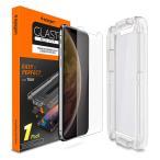 Spigen iPhone XR ガラスフィルム Glas.tR EZ Fit (1枚入)  6.1インチ 用 薄さ0.4mm 強化ガラス 液晶保護フィルム 液晶パネル 保護 Face ID 対応