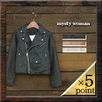 【mysty woman】 FAKE LEATHER SHORT RIDERS JACKET (57221143) Lady's 3color
