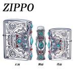 C ZIPPO インディアンスピリット クロス 天然石 お洒落 ライター 明けの明星 かわいい 四方向 可愛い オシャレ 個性的