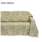 C 川島織物セルコン Morris Design Studio ウィローボウ マルチカバー 200×200cm HV1716 G グリーン 葉 ベッド おしゃれ ソファ 寝室 デザイン かわいい 上品