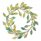 彩か(SAIKA) Wall Decoration METAL Wreath メタルリース アンティークグリーン CIE-730
