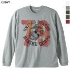 ショッピング古着 Tシャツ メンズ 長袖 アメリカンネイビーとカレッジナンバリングの組み合わせ ヘビーロングTシャツ ロンT