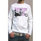 ショッピングチョッパー Tシャツ メンズ 長袖 セクシーな女性フォトがコラージュ ロングTシャツ ロンT