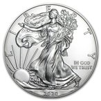 未流通品 イーグル銀貨 2020年 1oz 銀貨 アメリカ 定番 趣味 収集 シルバーコイン 40.6mm コインカプセル付き