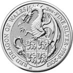 レッドドラゴン銀貨 イギリス ビーストシリーズ 2オンス コレクション 珍品 希少 プレゼント コンプリート シルバーコイン 2017年 未流通品