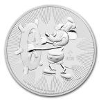 ミッキーマウス スチームボート かわいい プレゼント 銀貨 ニウエ 2017年 .999 コインカプセル入り