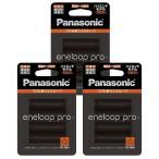 パナソニック エネループ 単3形充電池 4本パック×3(計12電池) 大容量モデル 防災備品に eneloop pro BK-3HCD/4C-3p