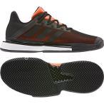 アディダス adidas メンズ テニス シューズ マルチコート SoleMatch Bounce M DQX62 G26605 コアブラック/コアブラック/ソーラーオレンジ 【2019FW】