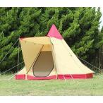 快適機能ひさしを装備 高くて広い開放的な空間の八角錐テント