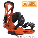 ショッピングスノー 特典あり ユニオン ビンディング 金具 18-19 UNION FLITE PRO Orange フライト プロ 日本正規品 予約