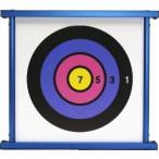 健康スポーツレクリエーション吹き矢 マグネット吹矢用的ブルー(表 競技的 裏 レクリエーション的) 腹式呼吸 有酸素運動 健康増進 介護予防 吹矢