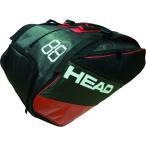 HEAD ヘッド 【テニス用ラケットバッグ】 ES SUPER COMBI 9R        283687 ブラック/レッド