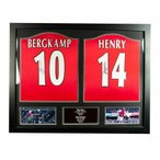 Arsenal F.C. Bergkamp & Henry Signed Shirts (Dual Framed) / アーセナルFCベルカンプ&ヘン