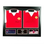 Manchester United F.C. Charlton & Law Signed Shirts (Dual Framed) / マンチェスター