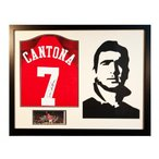 Manchester United F.C. Cantona Signed Shirt Silhouette / マンチェスター・ユナイテッドFCカン