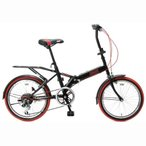 (セール)(送料無料)COLEMAN(コールマン)バイク 自転車 折りたたみバイク 折りたたみ自転車 OS/COLEMAN FD206 キャリア付 20型 3238 BK ユニセックス