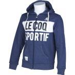 (セール)(送料無料)le coq(ルコック)メンズスポーツウェア スウェットジップアップ フーデッドスウェットジャケット QL-560153 メンズ NVB