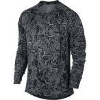 (セール)NIKE(ナイキ)ランニング メンズ長袖Tシャツ ナイキ DRI-FIT マイラー ランニング トップ 807140-010 メンズ ブラック/クールグレー/(リフレ...