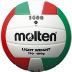 molten モルテン EVAバレーボール 4号球 V4C1400-L バレーボール 4号ボール ホワイトxレッドxグリーン 4号球