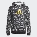 adidas アディダス ロゴ パーカー / Logo Hoodie JKX64 GJ6636 ジュニアスポーツウェア スウェット ボーイズ ブラック/イエロー/マルチカラー セール