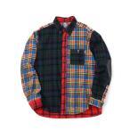 CHUMSチャムス Nel Shirts ネルシャツ CH02-1166-C004 トレッキング アウトドア 長袖シャツ CRAZY 送料無料